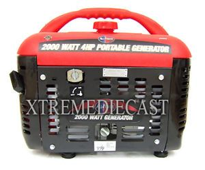 2000W Watts Gas Portable Generator Quiet RV Camping New