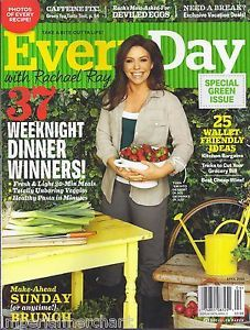 Everyday with Rachael Ray Magazine Weeknight Dinners Kitchen Bargains Cheap Wine