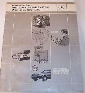 Mercedes Benz Service Training Manual Anti Lock Brake System Diagnosis thru 1987