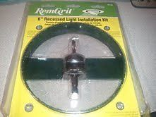 "Remgrit 6"" Carbide Grit Hole Saw Recessed Light Installation Kit New"
