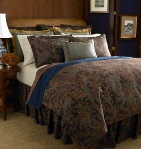 Ralph Lauren Bedford Hunt Paisley Queen Comforter Bedskirt Set