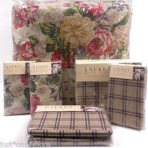 Ralph Lauren Surrey Garden Rose 7pc King Comforter Sheets Shams Floral Cottage
