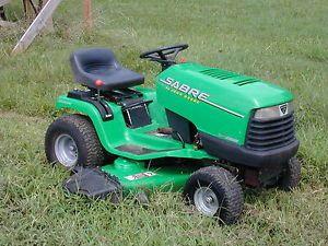 "John Deere Sabre Automatic Riding Lawn Mower 16 HP Vanguard Briggs 48"" Deck"