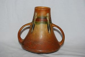 "Vintage Antique 5"" Roseville Monticello Indian Art Style Pottery Vase"