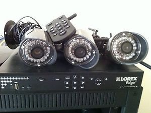 Lorex Edge LH328000 8 Channel 1TB DVR Wireless Security Camera System w LW2110