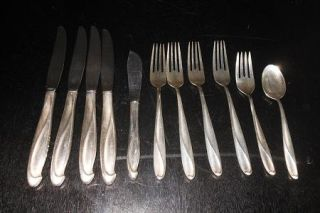 "11 Piece Vintage Reed Barton ""Silver Sculpture"" Sterling Silver Flatware"