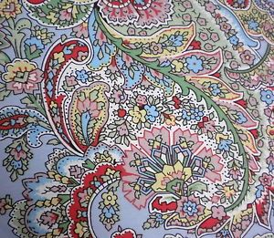Ralph Lauren 4pc Blue Paisley Queen Comforter Set Yellow Foulard Red