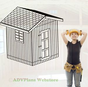 8x8 Gable Barn Shed 26 Outdoor Backyard Wood Plans Adv Plans Wood Sheds