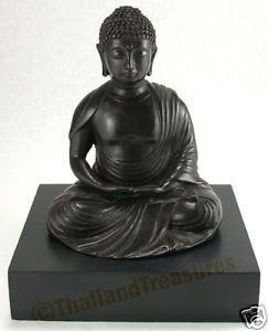 Serene Bronze Buddha Statue Sculpture SE Asia Art Thai