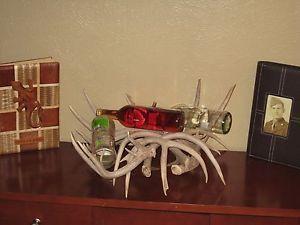 Whitetail Deer Antler Wine Rack Holder Bottle Lot Cabin Decor Rustic Sheds Horns