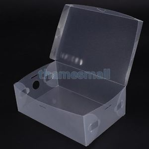 Transparent Shoe Storage Box Container Foldable Shoe Holder Organizer Dustproof