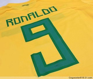 2011 Copa América Brazil Home Jersey 9 Ronaldo Any Name