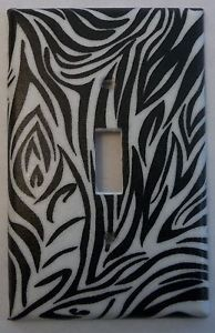 Unbreakable Zebra Stripe Light Switch Outlet Cover Girls Bed Bath Room Decor 3