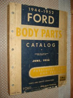 1944 1952 Ford Car Truck Body Parts Catalog Original Numbers Book 51 50 49 48