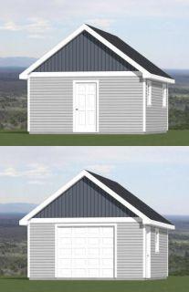 16x20 Sheds PDF Floor Plans