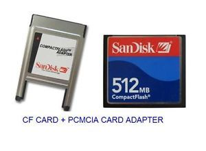 SanDisk 512MB Compact Flash ATA PC Card PCMCIA Adapter Janome Machines