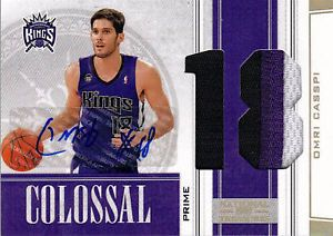 2009 10 Treasures Omri Casspi Auto Prime Number Patch 10