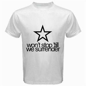 Harry Styles Tattoo's Shirt Won'T Stop Till We Surrender