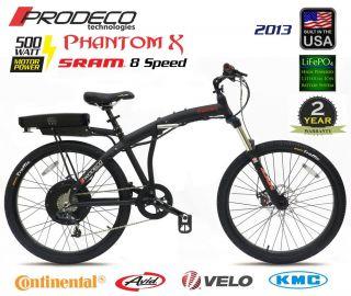 2013 Prodeco Technologies Phantom x 36V 500W LiFePO4 Electric Bicycle Bike EBike