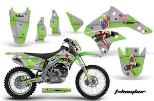 AMR Racing Dirt Bike Background Number Plate Graphics Kawasaki KLX 450 08 12 TBG