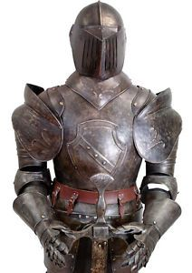 Details about FRENCH SUIT OF ARMOUR 6ft   185cm KNIGHT MEDIEVAL