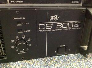 Peavey CS 800 CS 800 CS800X 600W x 2 Professional Stereo Power Amplifier