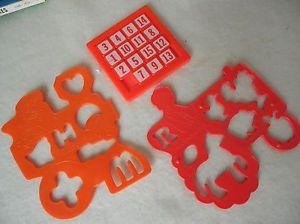 2 Vintage Train Stencils 1986 Ronald McDonalds Hamburglar 1 Puzzle Number Toy