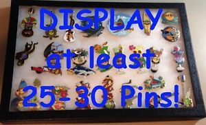 "Glass Frame Display Case Box Lapel Pin Badge Patch Medal Keychain 12 25"" x 8 25"""