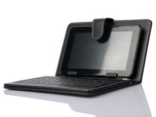 """Protective PU Leather Skin Keyboard Case Cover for Android 7"""" Tablet PC USB Port"""