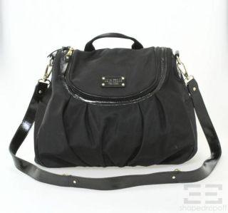 Kate Spade Black Nylon Patent Trim Crossbody Messenger Bag