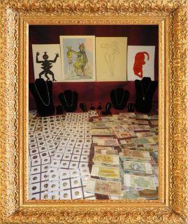 Estate Lot Collection Sale Gold Silver Roman Coins Set Warhol Dali Art Hoard $