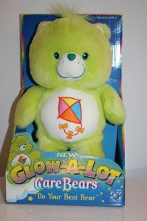 "Care Bears RARE Plush 12"" do Your Best Bear Glow A Lot New in Box RARE"