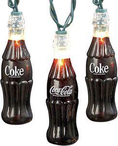 Classic Coca Cola Bottle Party String Lights Set