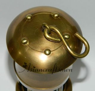 Solid Brass Miner's Oil Lamp Brass Miner's Lamp Coal Mining Lantern Green