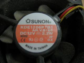 Sunon KDE1206PTB1 DC 12V 2 2W Brushless Fan