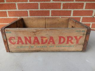 Old Vintage Wooden Canada Dry Soda Bottle Crate Box Carrier Tool