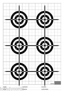 100 6 Small Circle Military Police Indoor Range Shooting Target Paper Targets