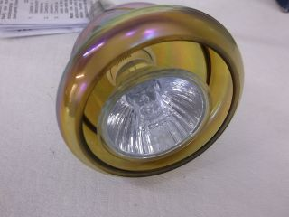 2 Hampton Bay Brushed Nickel Pendant Track Light Amber Glass Shade 450581