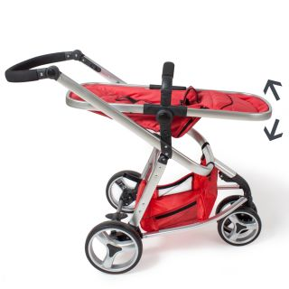 Pram Travel System 3 in 1 Combi Stroller Buggy Baby Child Jogger Push Chair Red