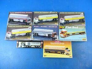 C1 HO Scale Semi Truck Tractor Trailor Model Kit Lot Train Accessories Vintage