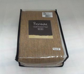 "Miller Curtains Berman Lined Grommet Window Panel Caramel 50"" x 95"" New"