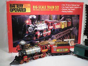 New Bright G Big Scale Model Union Pacific Train Set 18' Track Light Sound