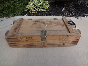L K Military Wooden Ammo Case Crate Ammo Box