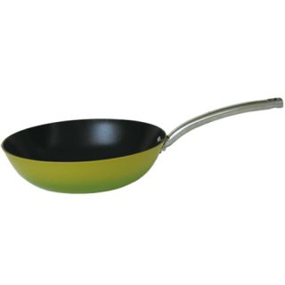New Green Enameled Light Cast Iron Nonstick Fry Pan 12 inch on Sale