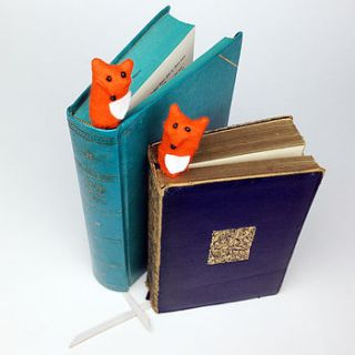 handmade findlay the fox bookmark by mirjami design