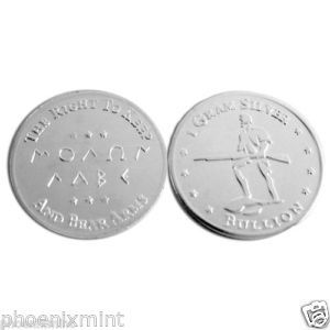 1 Gram Silver Bullion Minute Man 2nd Amendment Molon Labe Pure Silver 999