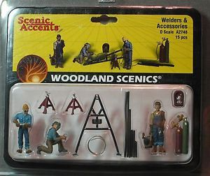 Woodland Scenics Figures O Scale A2748 Welders Accessories Train People New