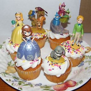 Disney Princess Sophia The First Figure Cake Toppers Cupcake Decorations 6 Set