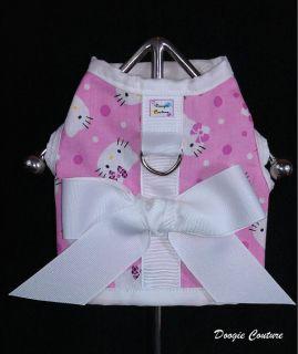 Hello Kitty Dog Harness Vest Shirt Size XXXS Through Medium by Doogie Couture