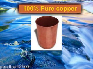 100 Pure Copper Glass Cup Tumbler Drinking Liquids Indian JAL Ayurveda 425ml